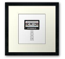 Cassette Tape  Framed Print