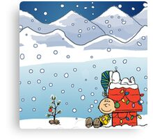 Snoopy and best friends Canvas Print