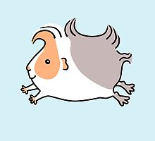 Leaping Guinea-pig - Apricot and Grey by zoel