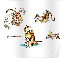 calvin and hobbes characters Poster