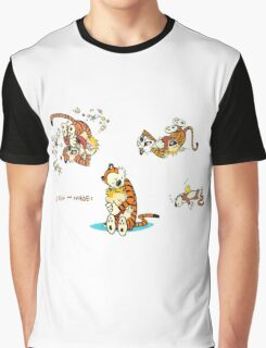 calvin and hobbes characters Graphic T-Shirt