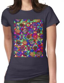 Kaleidoscope Fantasy Womens Fitted T-Shirt