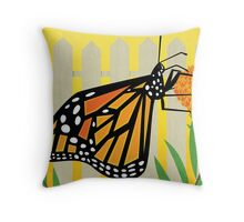Monarch Conservation Poster Throw Pillow