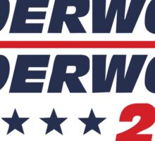 frank underwood logo Sticker