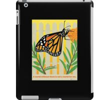 Monarch Conservation Poster iPad Case/Skin