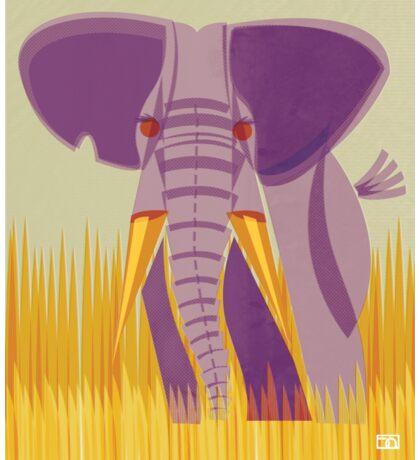 Elephant Conservation Illustration Sticker