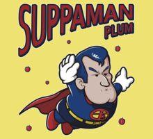 Suppaman plum Kids Tee