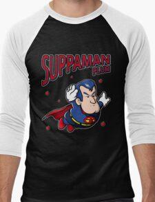 Suppaman plum Men's Baseball ¾ T-Shirt