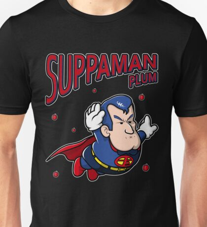 Suppaman plum Unisex T-Shirt