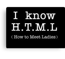 H.T.M.L - How to meet the ladies Canvas Print