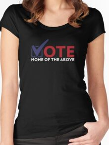 None of the Above colors Women's Fitted Scoop T-Shirt