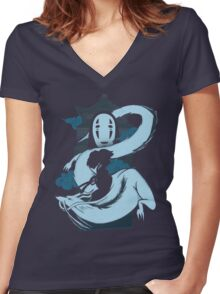 Spirit Girl Women's Fitted V-Neck T-Shirt