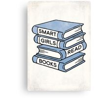 Smart Girls Read Books - book lover gift inspirational quote Canvas Print