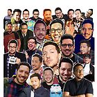 Sal Vulcano collage (Throw Pillow) by LauraWoollin