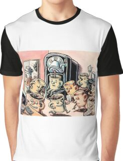 Coffee Mug People in Office Graphic T-Shirt