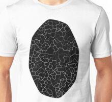 White on Black Crackle Unisex T-Shirt