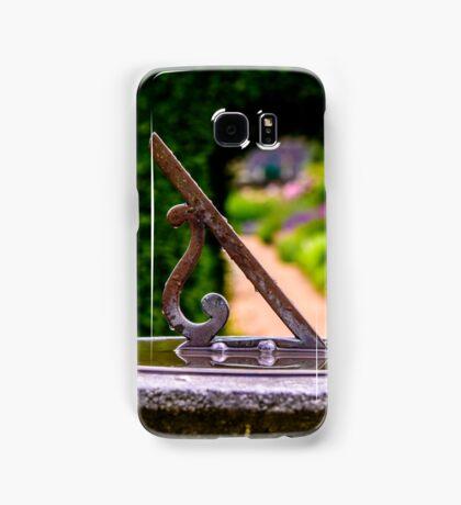 English country garden sun dial Samsung Galaxy Case/Skin