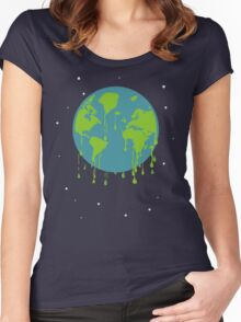 global warming tshirt Women's Fitted Scoop T-Shirt