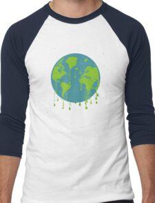global warming tshirt Men's Baseball ¾ T-Shirt