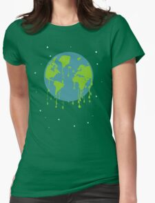 global warming tshirt Womens Fitted T-Shirt
