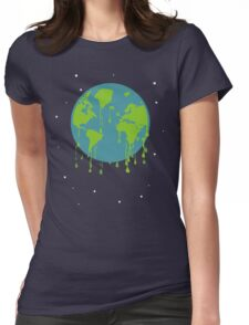 global warming tshirt Womens Fitted T-Shirt