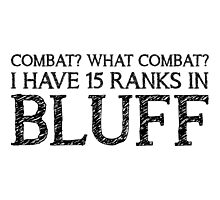 Combat? What Combat? (White) Photographic Print