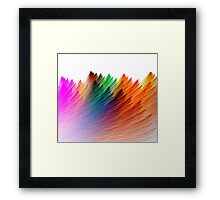 color brush Framed Print
