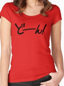 Doon! ドーン! Ta-Dah! SFX Women's Fitted Scoop T-Shirt