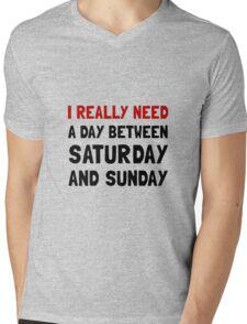 Saturday Sunday Mens V-Neck T-Shirt