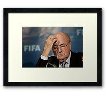 Sepp Blatter Framed Print