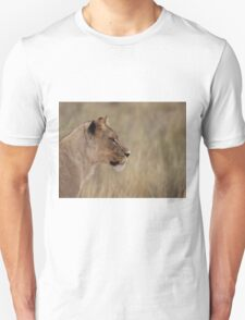 Lioness isolated fro back ground Unisex T-Shirt