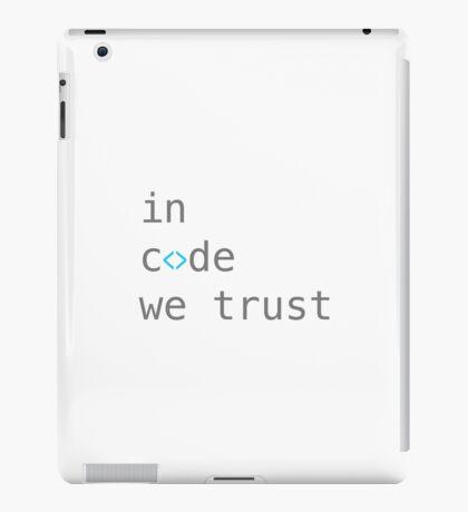 in code we trust iPad Case/Skin