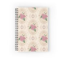 Beautiful seamless pink rose pattern with baroque ornamental Spiral Notebook