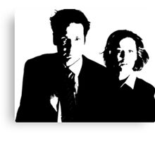 x files Mulder & Scully Canvas Print