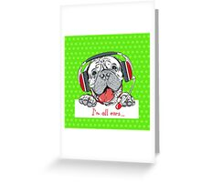 Dog Bullmastiff as customer service Greeting Card