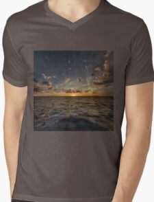 Fantasy Sunset 3 Mens V-Neck T-Shirt