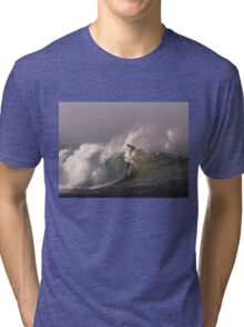Surfer at Ala Moana Bowls .3 Tri-blend T-Shirt