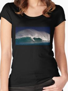 Surfer at Sunset Beach 2 Women's Fitted Scoop T-Shirt