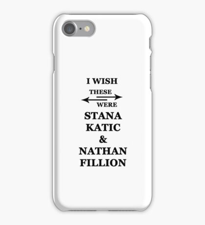 I wish these were Stana Katic and Nathan Fillion iPhone Case/Skin