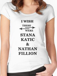 I wish these were Stana Katic and Nathan Fillion Women's Fitted Scoop T-Shirt