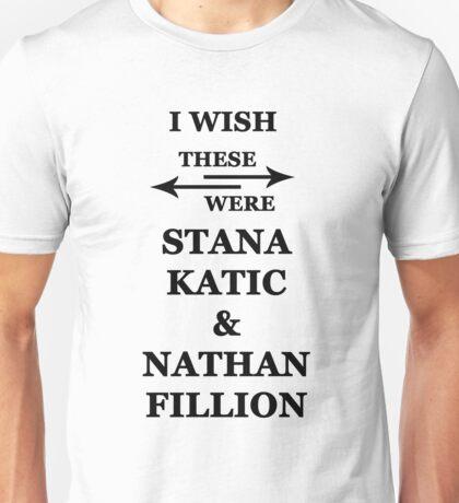 I wish these were Stana Katic and Nathan Fillion Unisex T-Shirt