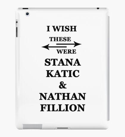 I wish these were Stana Katic and Nathan Fillion iPad Case/Skin