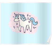 Unicorn Scatter Pattern Poster