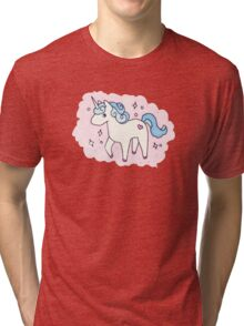 Unicorn Scatter Pattern Tri-blend T-Shirt
