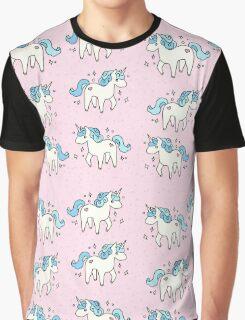 Unicorn Scatter Pattern Graphic T-Shirt