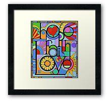 Hope, Faith, Love Framed Print