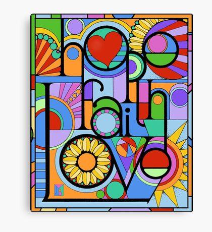 Hope, Faith, Love Canvas Print