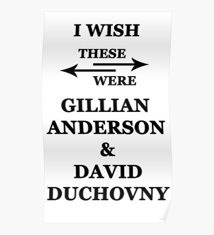 I wish these were Gillian Anderson and David Duchovny Poster