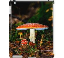 Big mushroom little mushroom iPad Case/Skin