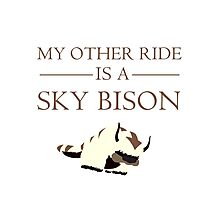 My Other Ride is a Sky Bison Photographic Print